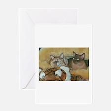 Burmese Cats Greeting Cards