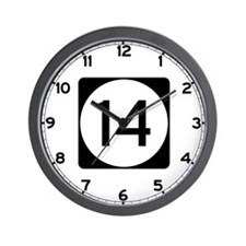 Highway 14, Mississippi Wall Clock