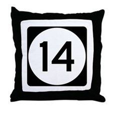 Highway 14, Mississippi Throw Pillow