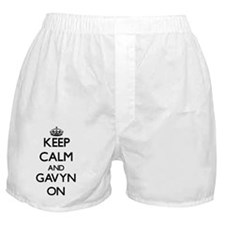 Keep Calm and Gavyn ON Boxer Shorts