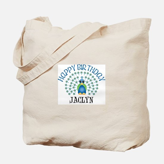 Happy Birthday JACLYN (peacoc Tote Bag