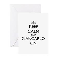Keep Calm and Giancarlo ON Greeting Cards