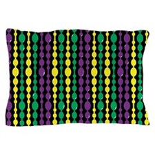 Mardi Gras Bead Curtain Pillow Case