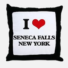 I love Seneca Falls New York Throw Pillow
