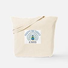 Happy Birthday KAREN (peacock Tote Bag