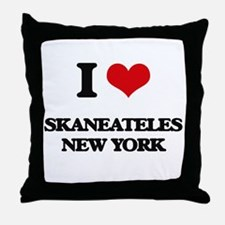 I love Skaneateles New York Throw Pillow