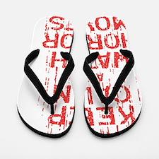 Keep Calm Watch Horror Flip Flops