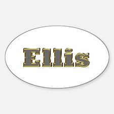 Ellis Gold Diamond Bling Oval Decal
