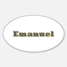 Emanuel Gold Diamond Bling Oval Decal