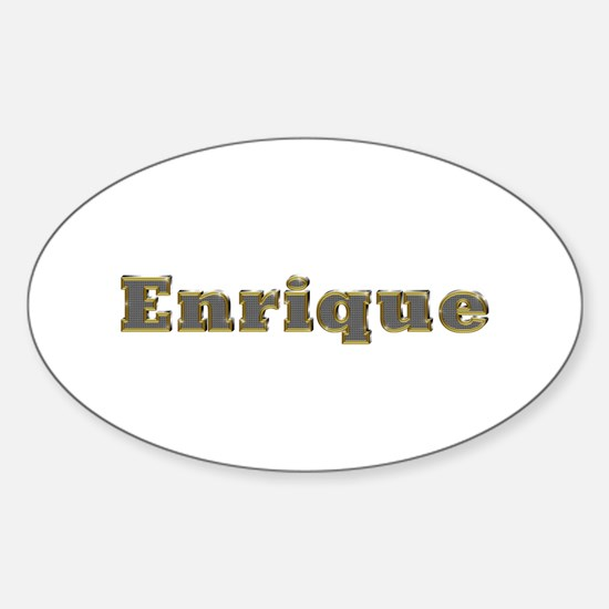 Enrique Gold Diamond Bling Oval Decal