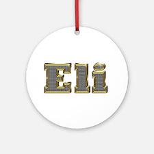 Eli Gold Diamond Bling Round Ornament