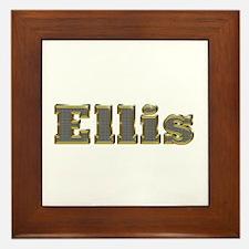Ellis Gold Diamond Bling Framed Tile