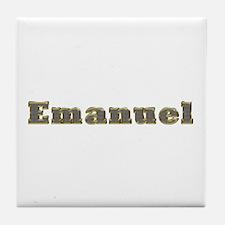 Emanuel Gold Diamond Bling Tile Coaster