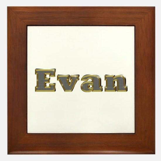 Evan Gold Diamond Bling Framed Tile