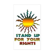 Stand Up For Your Rights Rectangle Decal