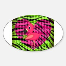 Pink Flamingo Saint Patricks Day Decal