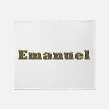 Emanuel Gold Diamond Bling Throw Blanket