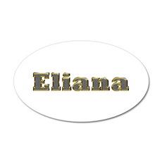 Eliana Gold Diamond Bling 20x12 Oval Wall Decal