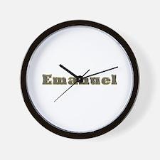 Emanuel Gold Diamond Bling Wall Clock