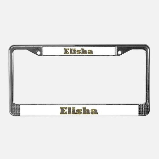 Elisha Gold Diamond Bling License Plate Frame