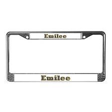 Emilee Gold Diamond Bling License Plate Frame