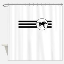 Horse Racing Stripes Shower Curtain