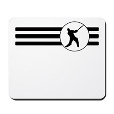 Cricket Player Stripes Mousepad
