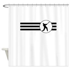 Cricket Player Stripes Shower Curtain