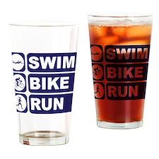 Swim Bike Run Triathlon Triathlete Drinking Glass