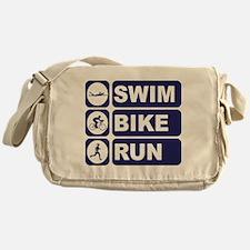 Swim Bike Run Triathlon Triathlete Messenger Bag