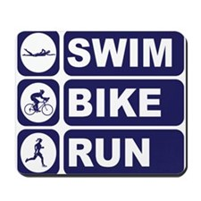 Swim Bike Run Triathlon Triathlete Mousepad