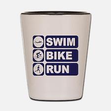 Swim Bike Run Triathlon Triathlete Shot Glass