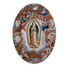 Virgin of Guadalupe Oval Ornament