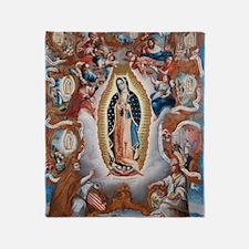 Virgin of Guadalupe Throw Blanket