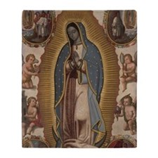 Virgin of Guadalupe. Throw Blanket