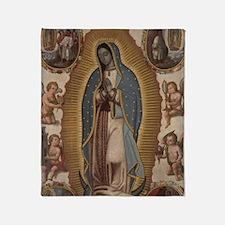 Virgin of Guadalupe. Throw Blanket