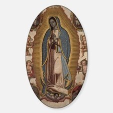 Virgin of Guadalupe. Sticker (Oval)