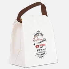 Heading to my craft room Canvas Lunch Bag