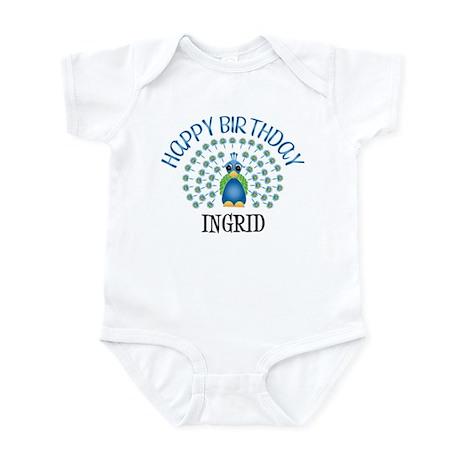 Happy Birthday INGRID (peacoc Infant Bodysuit