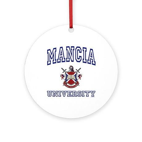 MANCIA University Ornament (Round)