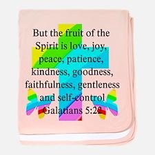 GALATIANS 5:22 baby blanket