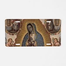 Virgin of Guadalupe. Aluminum License Plate