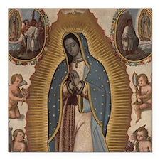 "Virgin of Guadalupe. Square Car Magnet 3"" x 3"""