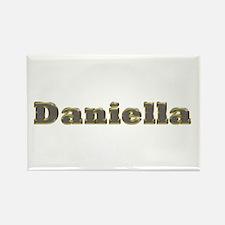 Daniella Gold Diamond Bling Rectangle Magnet
