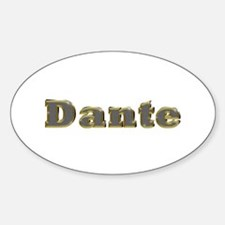 Dante Gold Diamond Bling Oval Decal