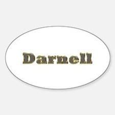 Darnell Gold Diamond Bling Oval Decal