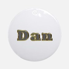 Dan Gold Diamond Bling Round Ornament