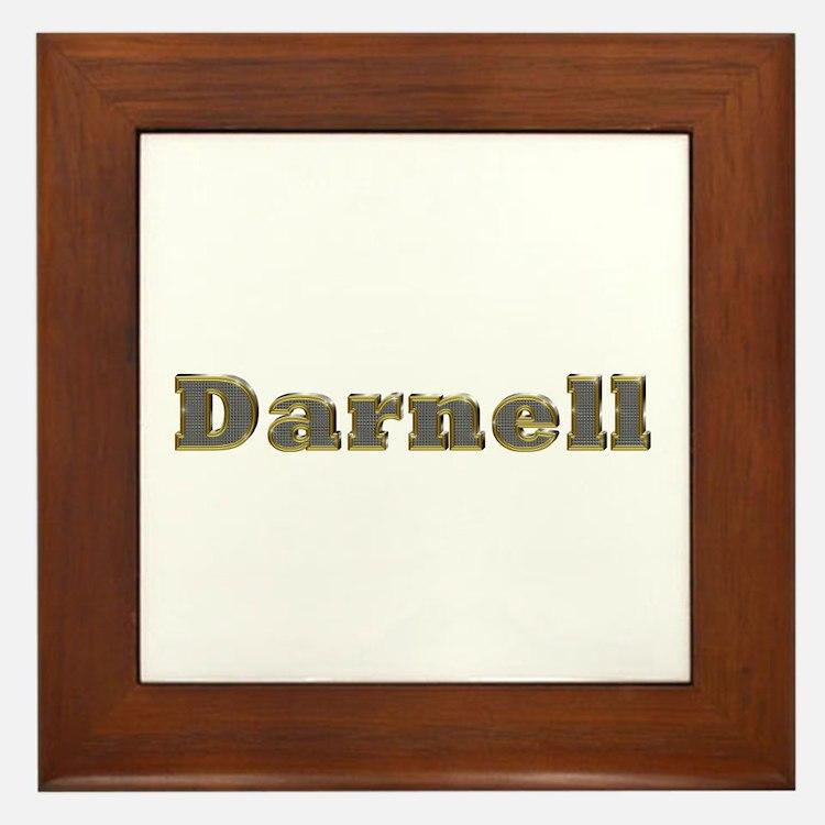 Darnell Gold Diamond Bling Framed Tile
