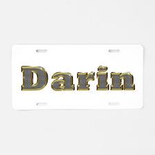 Darin Gold Diamond Bling Aluminum License Plate