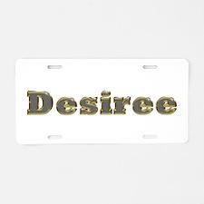 Desiree Gold Diamond Bling Aluminum License Plate